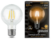 Лампа LED G95 6W 2700K E27 Filament, Gauss